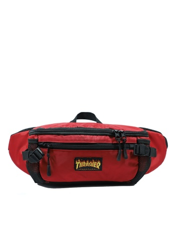 THRASHER red Trasher Flame Hydration Waist Bag 50488ACC1CE42CGS_1