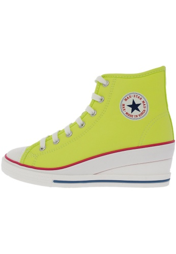 Maxstar 7H 7 Holes Synthetic Leather Side Zipper High Top Sneakers US Women Size MA168SH76DXJHK_1