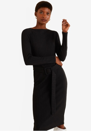 a5344d2299210 Shop MANGO Belt Ribbed Dress Online on ZALORA Philippines