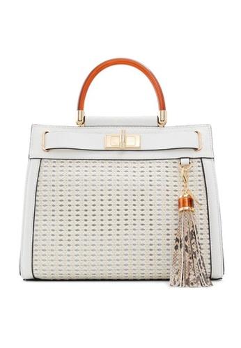 ALDO white Dwigolle Top-Handle Bag 48A22ACF3D321AGS_1