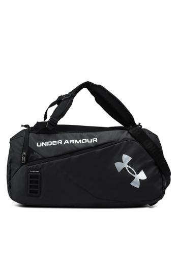 Under Armour black Contain Duo Medium Duffle Bag 4D815AC80A7974GS_1