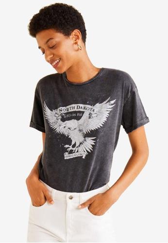 Mango grey Rock Cotton T-Shirt A03FEAA6E14A69GS_1