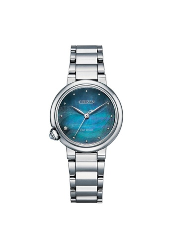Citizen silver CITIZEN EM0910-80N ECO-DRIVE BLUE MOTHER OF PEARL STAINLESS STEEL WOMEN'S WATCH EEAE8AC2CFC0A0GS_1