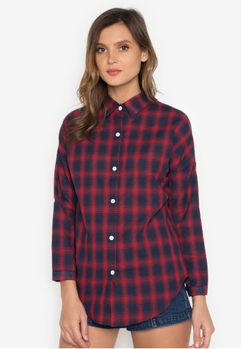 Chase Fashion red Plaid Flannel Shirt CH547US0K36ZPH_1