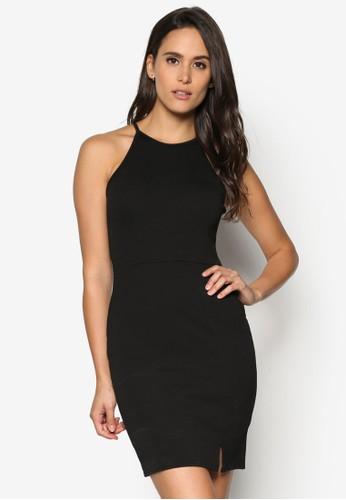 側開叉削肩貼身連esprit 台中身裙, 服飾, 洋裝