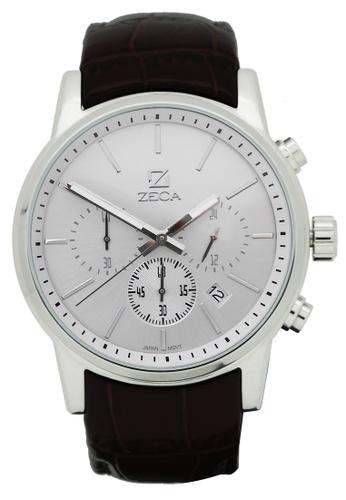 ZECA black and silver Zeca Watches Men Fashion Leather Analog - 225M Black Silver ZE260AC15SJSSG_1