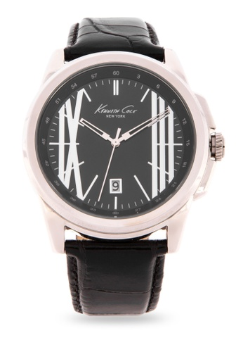 1dbeaf73fee Kenneth Cole silver New York Men s Stainless Steel Classic Analog Watch  824EEAC9F5F71DGS 1
