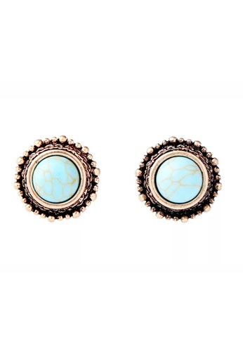 DreamTales Wardrobe green Turquoise Round Earring FB109AC614BC2DGS_1