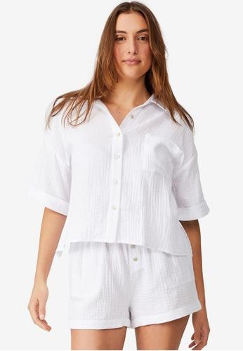 Cotton On Body white Pre Party Woven Set CA352AAB31EC6FGS_1