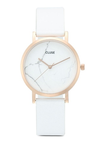 CLUSE 金色 La Roche Petite Rose Gold White Marble/White Watch 13DB2AC94CD5AEGS_1