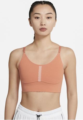 Nike orange Yoga Dri-FIT Indy Ll Eyelet Bra F0DD2USD9FD466GS_1