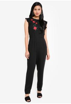 f70410ee7dd Dorothy Perkins black Black Embroidered Jumpsuit 904D7AA4F4ECEEGS 1