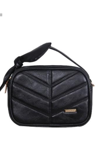 Verchini black Verchini Top Zip Bow Sling Bag 4B2E6AC6E35A93GS_1