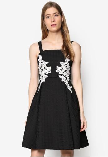 Blair 蕾絲邊飾暗esprit香港分店地址紋洋裝, 服飾, 洋裝