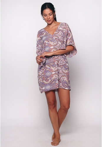 Aanya purple Purple Lara Kaftan Midi Dress 49255AA0DA9D35GS_1
