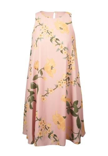 Auden Cavill 粉紅色 Auden Cavill Women Scuba Shift Dress With Floral D41F7AA1FCB96BGS_1