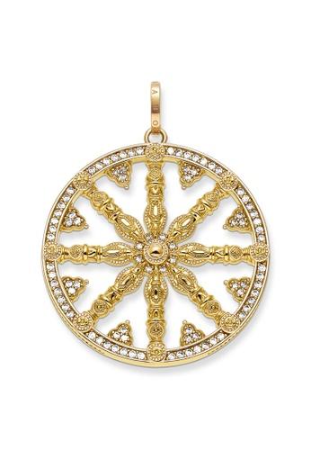 """THOMAS SABO gold Pendant """"Karma Wheel Pavé"""" 54767AC1EBFD9AGS_1"""