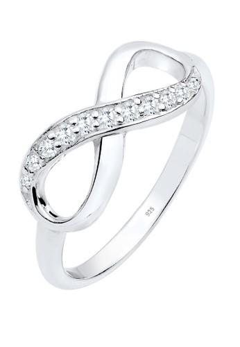 Elli Germany white Perhiasan Wanita Perak Asli - Silver Cincin Infinity Zirconia A9A59ACE84DE3AGS_1