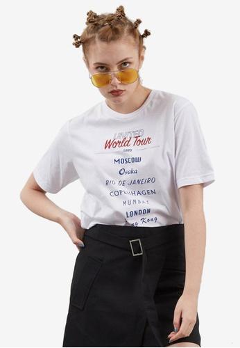 Berrybenka white Bell United World Tour T-shirt 9B070AA094C188GS_1