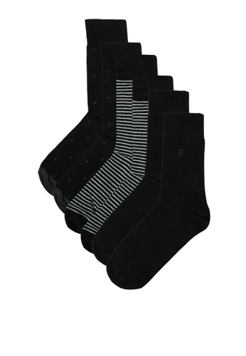 French Connection grey 3 Pack Waterfall Socks F0450AA884DB40GS_1
