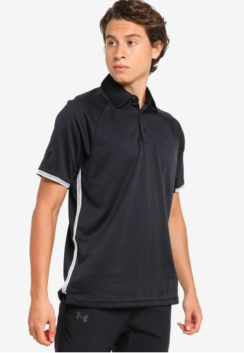 Under Armour black Men's Corp Rival Polo Shirt 515D5AAD2F8492GS_1