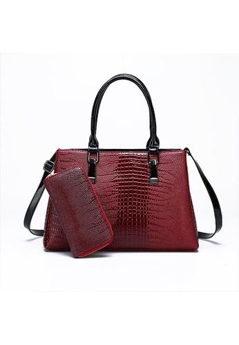 Lara 紅色 女士手提包單肩包(兩件套)- 紅色 38719AC91D5A8EGS_1