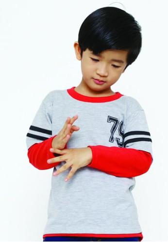 YEGE grey YeGe T'shirt Reglan Anak Junior Polos 75D41KA56E211CGS_1