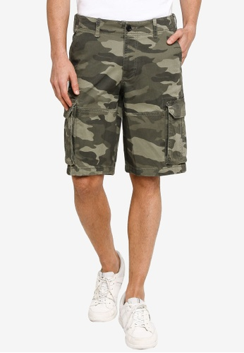 Hollister green 12 Inch Cargo Shorts AEB47AA50FDEF1GS_1