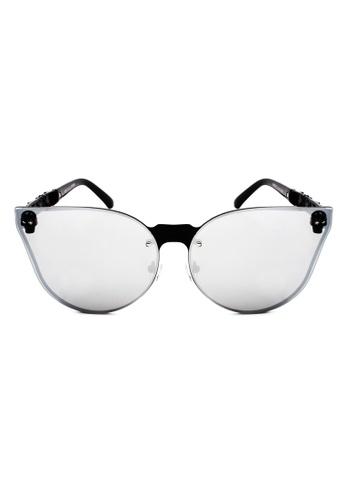 Maldives Eyewear black Rose Skull Vintage Style Rimless Frame Sunglasses 9613-20-Y MA573GL93XDUPH_1