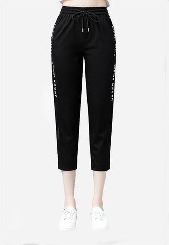 Twenty Eight Shoes black VANSA Fashion Sports Cropped Trousers  VCW-P236 7C331AAFD66EA1GS_1