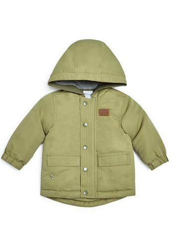 Mamas and Papas green Lightweight Parka Coat 9B6AEKA7ADB3F6GS_1