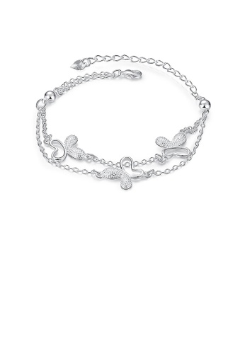 Glamorousky silver Elegant Fashion Butterfly Bracelet 7AD2DAC1136102GS_1