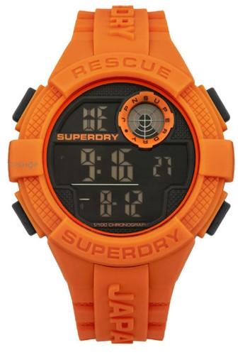 Superdry Jam Tangan Pria Orange Rubber Strap SYG193O