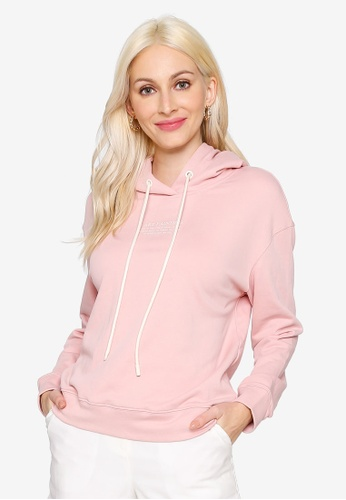 Hopeshow pink Slogan Hooded Sweater 29ADEAA8791452GS_1