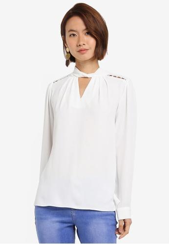 Dorothy Perkins white Ivory Pearl Long Sleeve Top 4C18DAA2875805GS_1