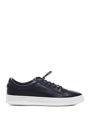 Minarno black Minarno Black Basic Leather Sneakers 126-65 D9736SH61AE8FBGS_1