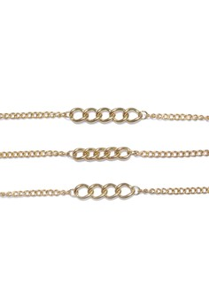 Curb Chain Bracelet Set