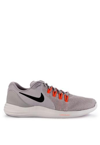Nike black and grey Men's Nike Lunar Apparent Running Shoes 48B58SH1D41051GS_1