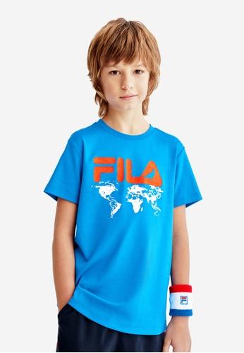 FILA blue FILA KIDS FILA x STAPLE Logo Cotton T-shirt 8-15yrs BB6ABKA16FFB24GS_1
