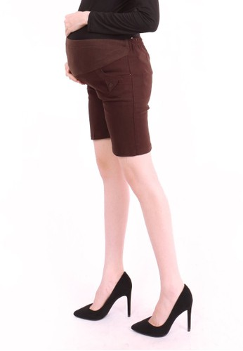 Eve Maternity brown Belly Short Maternity Pants 2E70CAA7CE78BBGS_1