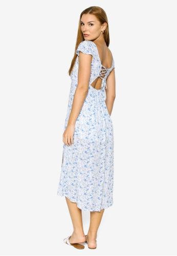 Hollister blue Midi Dress 50437AA86FADADGS_1