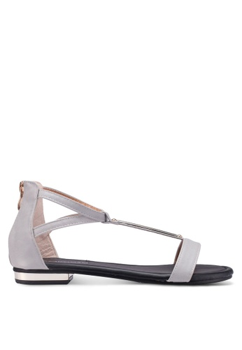 Mimosa grey T-Bar Flat Sandals 2EE24SH2DFE0C2GS_1