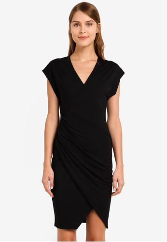 Selected Femme black Meg Short Sleeve Dress SE157AA0SED8MY_1