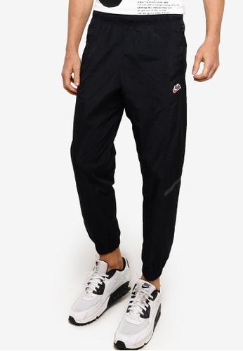 Nike black AS Men's Sportswear Heritage Windrunner Woven Pants 71B30AABCF82C9GS_1