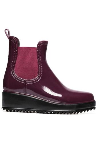Twenty Eight Shoes red Rain wedge boot TW446SH12ZXFHK_1