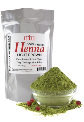 Morrocco Method Henna Hair Dye - Light Brown BD0E4BE65CFB18GS_1