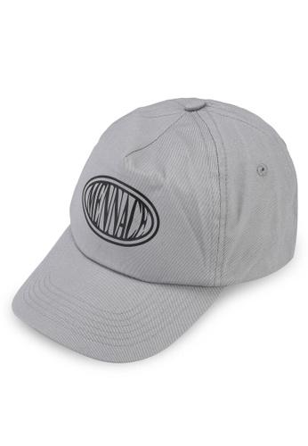 Mennace grey Oval Logo Cap 6ED4EACF4BCC34GS_1