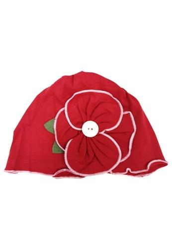 Lowela red Beanie Hat 2E2D1KC2B75FE8GS_1