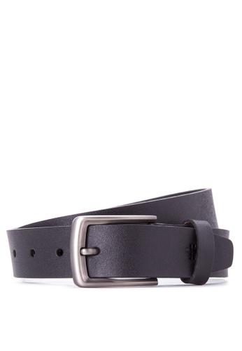 Burlington black Genuine Leather Belt   BU456AC53UDEPH_1
