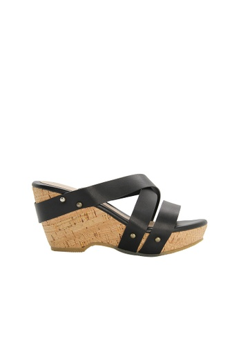 SEMBONIA black SEMBONIA Synthetic Leather Wedges (Black) 7A747SHCE9B9CAGS_1